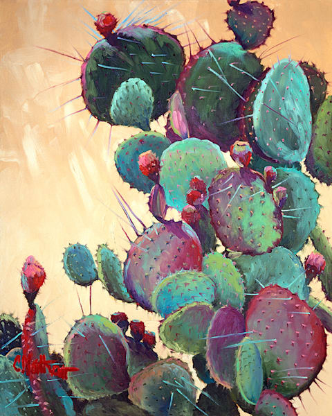 Prickly Pear Art by fineart-new mexico