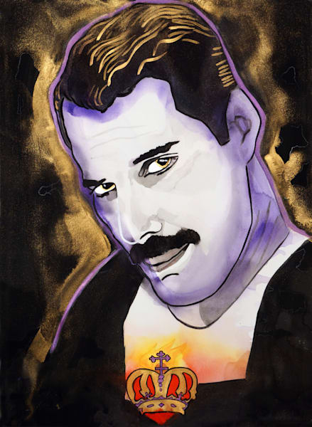 Freddie Mercury Art | William K. Stidham - heART Art