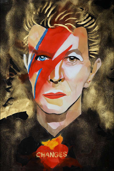 David Bowie Art | William K. Stidham - heART Art