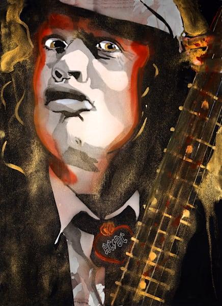 Angus Young Art | William K. Stidham - heART Art