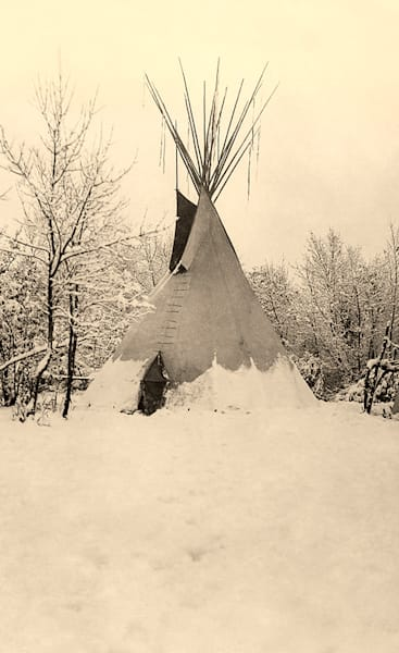 Teepee In the Snow