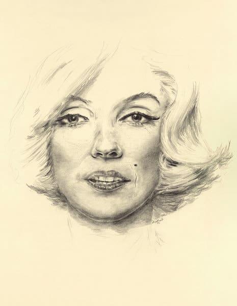 """Marilyn Portrait"" Vertical"