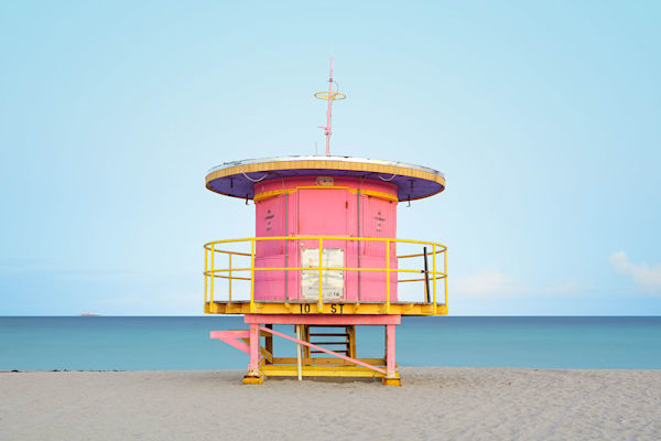 10th Street Lifeguard House  Photography Art | DE LA Gallery