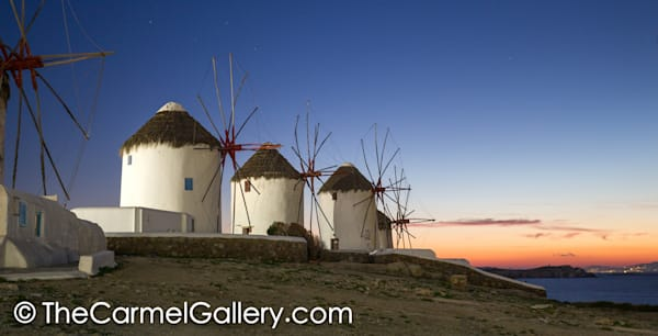 Windmills at Sunset Myknonos