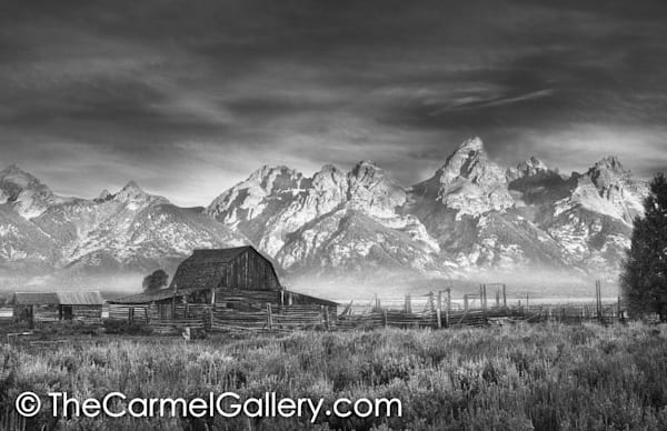 Grand Teton Homesteader Sunrise BW