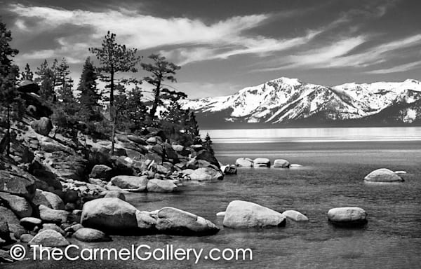 Mount Tallac and Tahoe  BW