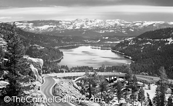 Old 40 and Donner Lake BW