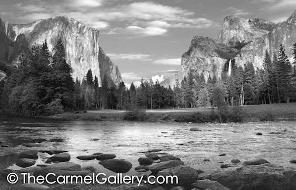 Spring in Yosemite Valley BW