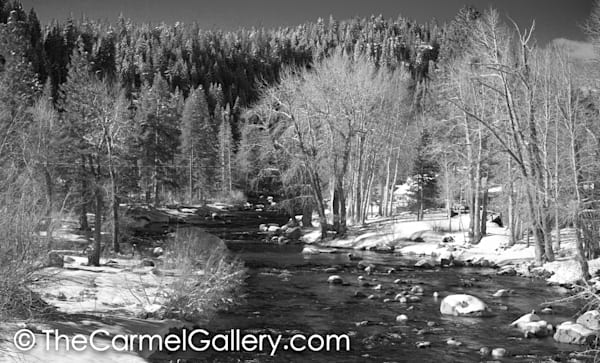 Winter View Truckee River BW
