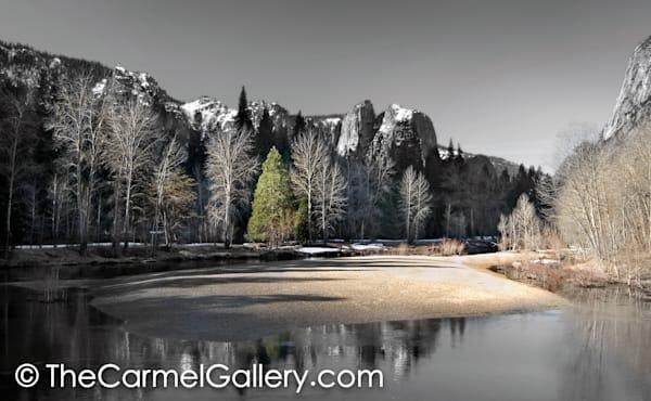 Winter Light Yosemite BW