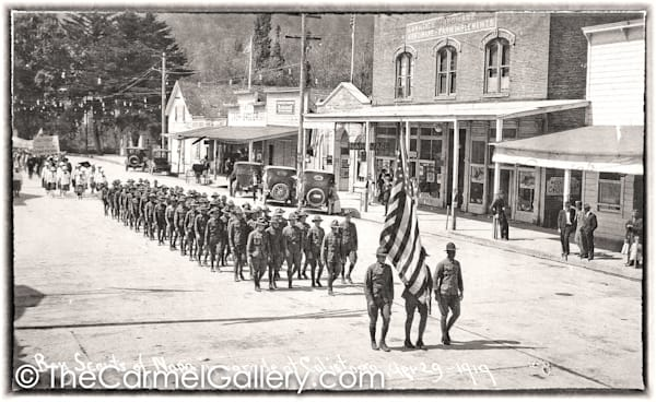 Boy Scout Parade Calistoga 1919