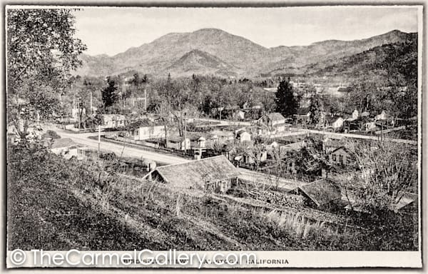 Bird's Eye View Calistoga 1900's