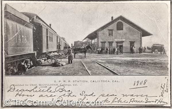 Calistoga Train Depot 1908
