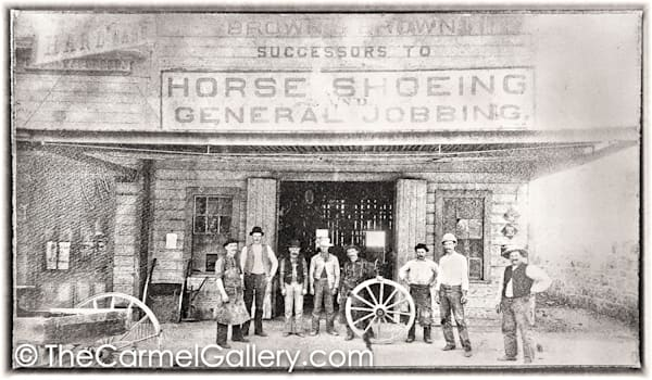 Horseshoeing Calistoga 1880's