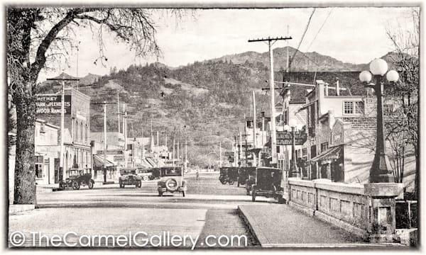 Lincoln Ave Bridge Calistoga 1930's