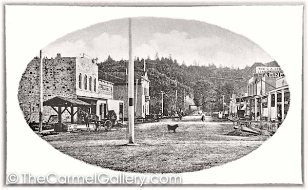 Lincoln Ave Calistoga 1870's