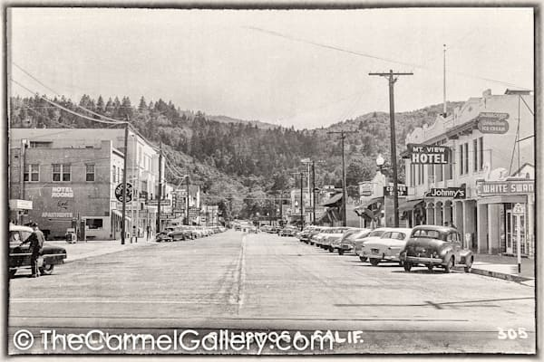 Lincoln Ave Calistoga 1950's