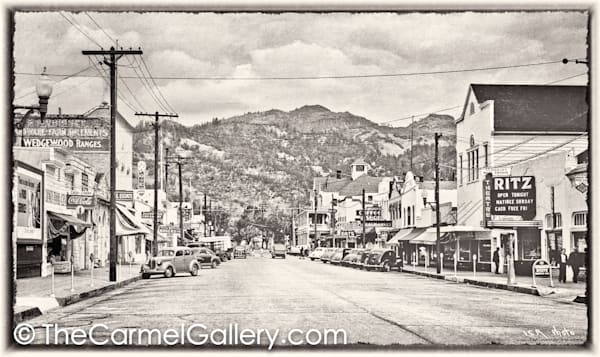 Lincoln Ave Calistoga 1940's