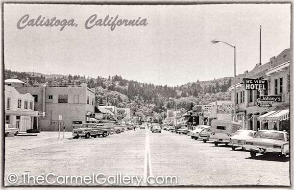 Lincoln Ave Calistoga 1960's