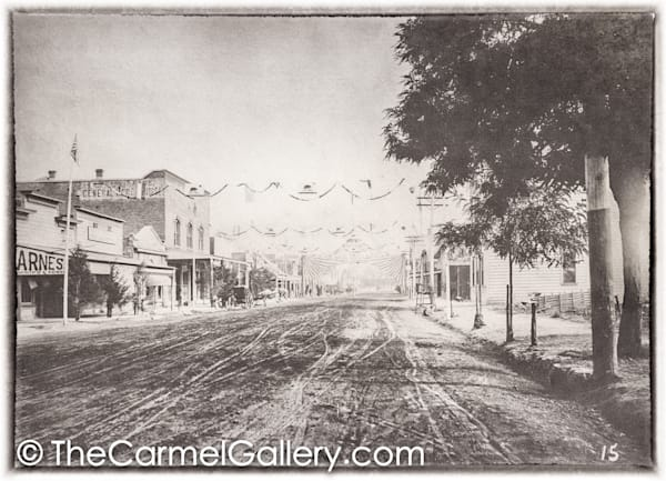 Muddy Lincoln Ave Calistoga 1890's