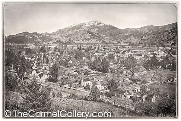 Winter View Calistoga 1890's
