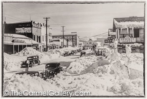 Truckee Main St Winter 1930's