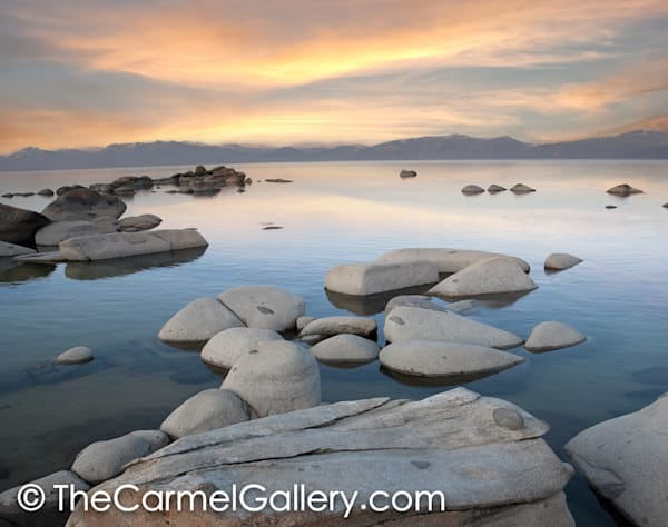 Lake Tahoe sunrise  from the North Shore art print
