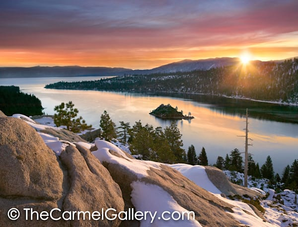 November Sunrise Emerald Bay