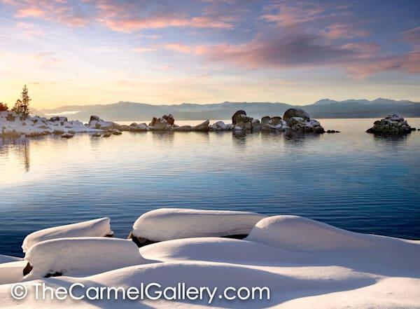 Snow Rocks Lake Tahoe
