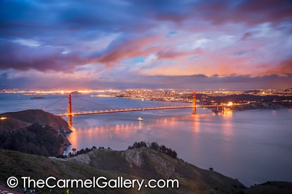 Evening Lights Golden Gate