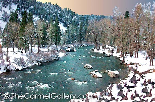 April Snow  Truckee River