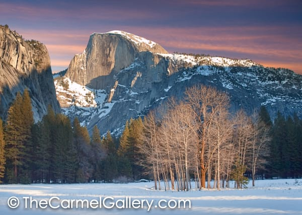 Winter Evening Half Dome