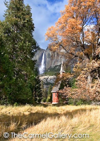 Yosemite Falls and Chapel