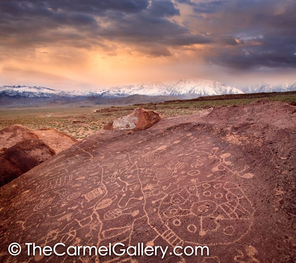 Sunset on Petroglyphs