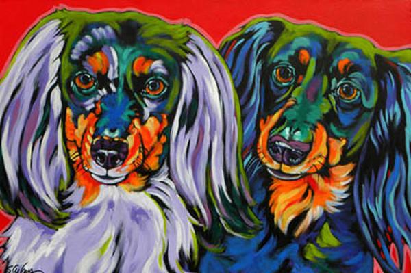 Holly And Libby Art | Sally C. Evans Fine Art