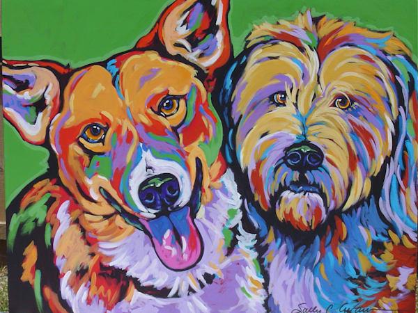 Millie And Annie Art | Sally C. Evans Fine Art