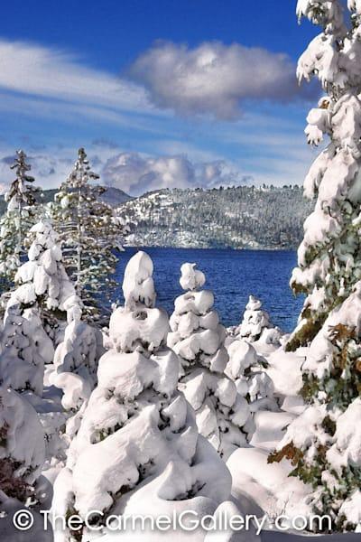 Snowy Morning Lake Tahoe