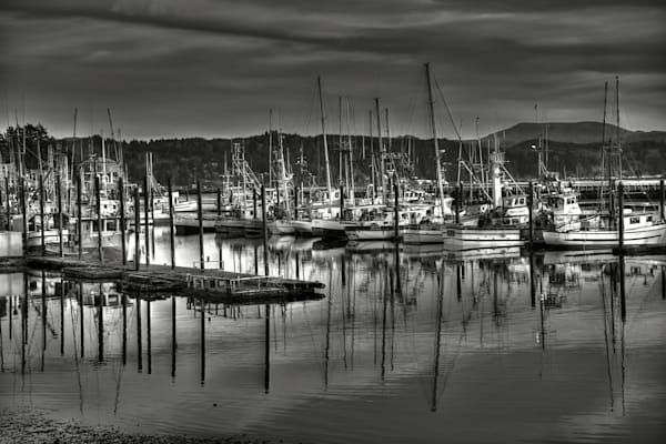 Tranguil Scene of Fishing Boats in Newport, Oregon, Prints.