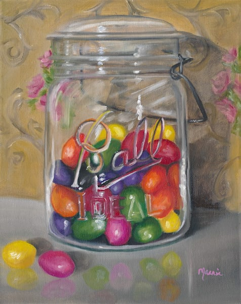 Jar of Jellybeans by Marnie Bourque an American painter.