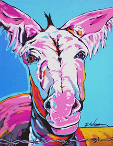 Cleo In Pink Art | Sally C. Evans Fine Art