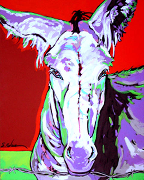 Cleo In Purple Art | Sally C. Evans Fine Art
