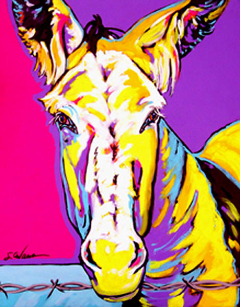 Cleo In Yellow Art | Sally C. Evans Fine Art