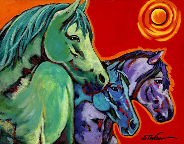 One Of Every Color Art | Sally C. Evans Fine Art