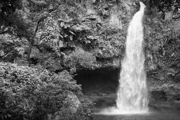Tavaro Waterfall BW, Taveuni, Fiji