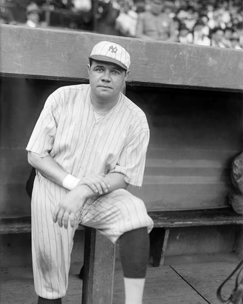 Babe Ruth with the NY Yankees