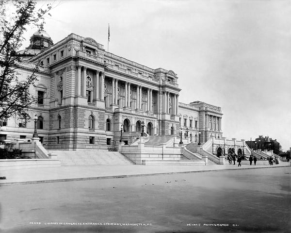 Library Of Congress Entrance Stairway