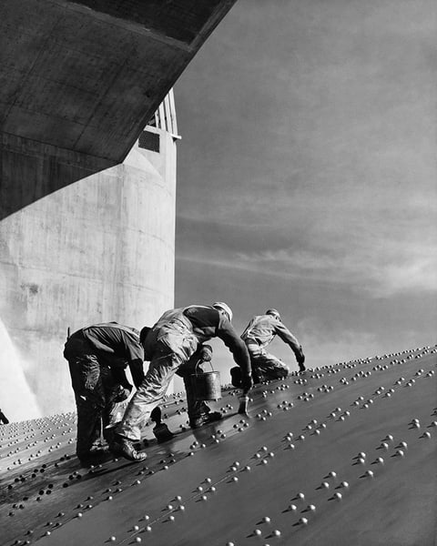 Hoover Dam Construction Workers