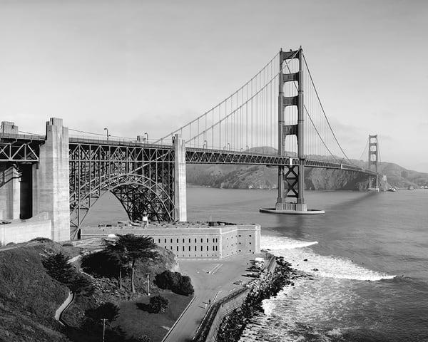 Golden Gate Bridge Bay Side View
