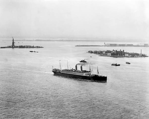 Ellis Island And Harbor, New York