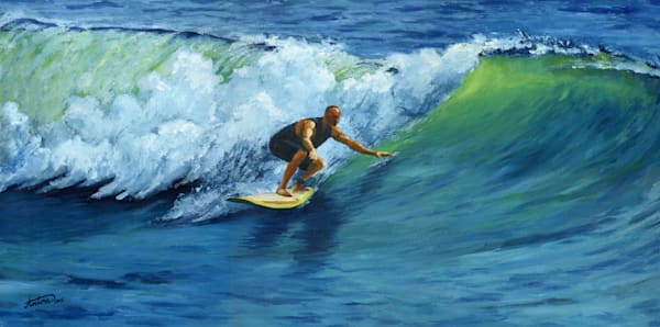 surfing,art,gyclee,painting,reproduction,anton uhl